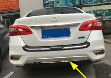 Chrome Rear Guard Protector Cover Trim for 2016+ Nissan Sentra Sylphy ABS Trims