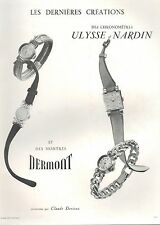▬► PUBLICITE ADVERTISING AD MONTRE WATCH ULYSSE NARDIN Dermont