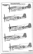 Warbird Tuskegee P-51B/C Mustang, 332nd FG Decals Part IV 1/48 024, 5 Options