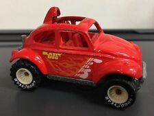 Hot Wheels VW 1983 Baja Bug Volkswagen Beetle 1/64 Red Real Riders ~ Free Ship!