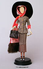 1940's Classic Hounds Tooth Autumn Suit Ensemble Handbag Fashion for Barbie Doll