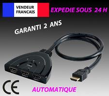 Sélecteur automatique Auto Switch Switcher 3 Port HDMI Hub Commutateur HDTV 1080