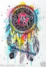 Dream Catcher Dream Big Picture Poster Home Art Print Wall Decor New B1