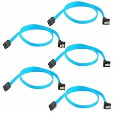 "5x 18"" SATA 3.0 Cable SATA3 III 6GB/s Right Angle 90 Degree for HDD Hard Drive"