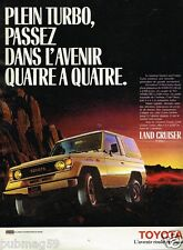 Publicité advertising 1986 Le 4X4 Land Cruiser Toyota