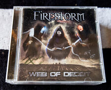 FIRESTORM rare WEB OF DECEIT cd signed Italian HEAVY METAL Iron Maiden