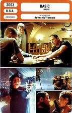 Fiche Cinéma. Movie Card. Basic (USA) 2003 John McTiernan