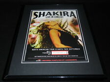 Shakira 2010 North American Tour Framed 11x14 ORIGINAL Vintage Advertisement