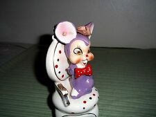 Great Vintage Arnart Purple Mouse Sitting in Chair, Retro