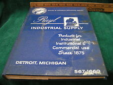 Vintage 1965 RAYL INDUSTRIAL SUPPLY Catalog Woodworking Tools Detroit FREESHIP