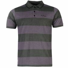 Mens Designer Pierre Cardin Casual Short Sleeve Striped Polo Shirt Size M -XL