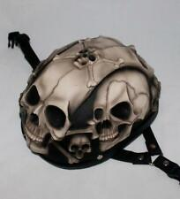 Skeleton Half Skull 3D Airbrush Helmet For Biker (Youth)