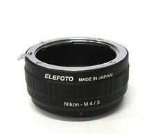ELEFOTO Mount Adapter Nikon - Micro Four Thirds **Excellent+** Condition