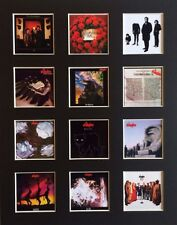 """THE STRANGLERS 14"""" BY 11"""" LP DISCOGRAPHY COVERS PICTURE MOUNTED READY TO FRAME"""