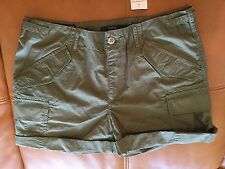 Polo Ralph Lauren Women's Poplin Cargo Shorts Sz 8 NWT$ 89.00 military green