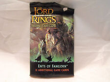 LORD OF THE RINGS CCG ENTS OF FANGORN SEALED PACK OF 11 CARDS