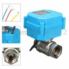 Stainless Steel 1/2''  Electric Motorized Ball Valve DC 12V DN15 2-Way 3-Wire