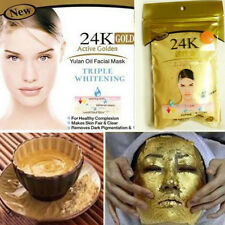 24K Gold Active Face Skin Care Luxury Spa Anti-Aging Facial Powder Masks 50g