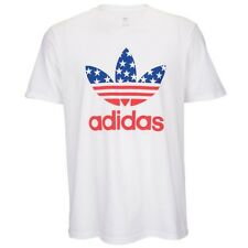 Adidas Originals All American White Red Blue T-shirt Men's 2XL Graphic Tee