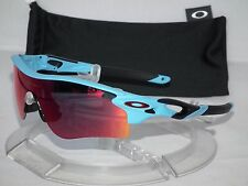 CUSTOM OAKLEY Radarlock Path Matte Glacier Blue / OO Red Iridium 30 Years Lens