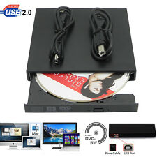 Hot Portable USB 2.0 DVD-ROM CD-RW Burner Writer Drive External Hard Drive Case