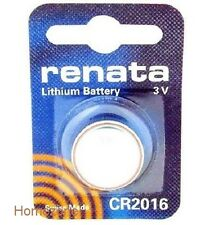 Renata Swiss Made Lithium CR2016 Cell Coin Button Battery 3V Trendy  x 1