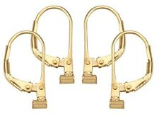 Earring Converters 2 Pair Set Convert Post to Lever Back 2 pr Gold Convertiblez