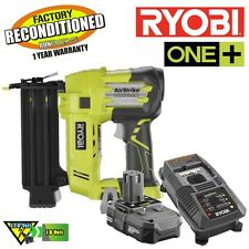 Ryobi P854 One+ 18-Volt 18-Gauge Cordless Brad Nailer Kit P320 Reconditioned