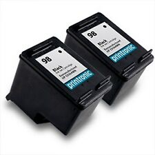 2PK HP 98 Ink Cartridge Black C9364WN for DeskJet D4145 D4155 D4160 5940 5940xi