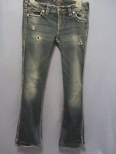 Silver Twisted boot cut jeans 28 x 31 (meas 28 x 30) distressed/destroyed