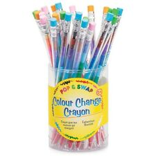 Childrens Art & Craft Colour Change Crayon - 11 Colours with Removable Eraser