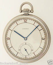 LONGINES ART DECO FRACKUHR IN EDELSTAHL - NEW OLD STOCK UNGETRAGEN - 1930er