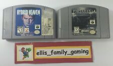 Lot Of 2 Nintendo N64 Games Hybrid Heaven - Forsaken 64 - Cleaned Work Great