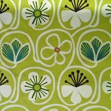 P KAUFMANN GROOVY BABY CITRON GREEN FLORAL UPHOLSTERY FABRIC $8.95/YD BTY 196FS