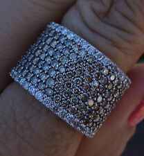 4cts G/Si1 Chocolate Diamond Large Band Ring better Ring 14k WG