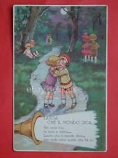 BAMBINI illustratore sconosciuto  vecchia cartolina old post card AK CPA