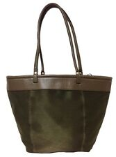 Nicoli Olive Business Travel Tote - Made in Italy