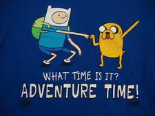 What Time Is It? Adventure Time Finn And Jake TV Cartoon Network T Shirt 2XL