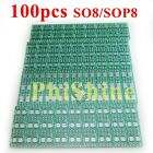 100pcs SOP to DIP Adapter SO8 SOP8 SOIC8 TSSOP8 to DIP8 Converter PCB Tinned FR4
