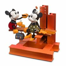 Disney Nostalgia Limited Edition Figurine MICKEY & MINNIE MOUSE BUILDING Figure