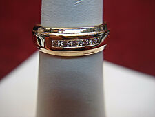 14K YELLOW GOLD 1/4 CTW DIAMOND RING - A REAL SPARKLER - NICE -BLOWOUT PRICING!