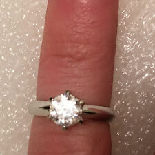 Solitaire Diamond Engagement Ring 2ct 14k White Gold Toned Round Brilliant Cut