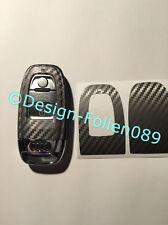Carbon Anthrazit Folie Schlüssel Audi 8K A3 4G RS QQ7 8PA4 S4 A5 8T A6 4F A8 Q5