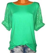 SHEEGO Shirt Longshirt Spitze grün GR. 48 50 Damen NEU - 142