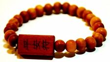 ✔UK SELLER✔ WOODEN BUDDHIST MALA UNISEX JEWELLERY PRAYER ROSARY BEADS BRACELETS