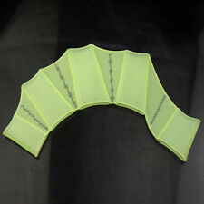 Silicone Green Swimming Flippers Hand Swim Web glove size S Fins Paddle Dive Kid