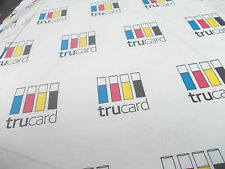 TRUCARD WHITE A4 one-sided gloss CARD 350 gsm 450 micron, 200 Sheets £13.50 +VAT