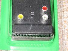 SCART MASCHIO A SCART FEMMINA 3x Connettore RCA CON INTERRUTTORE TV Video Collegamento Nuovo Inscatolato