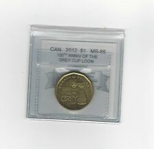 *2012* Grey Cup Anniv*Coin Mart Graded Canadian, Loon Dollar,*MS-65*