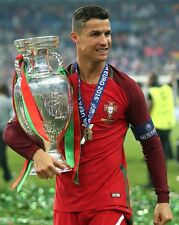 Cristiano Ronaldo Unsigned 2016 Euro Portugal 8x10 Photo